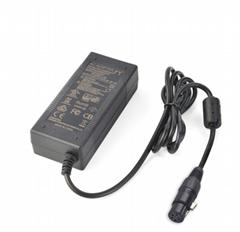 CE UL認証60W票據標籤打印機適配器24v2.5a桌面式電源適配器