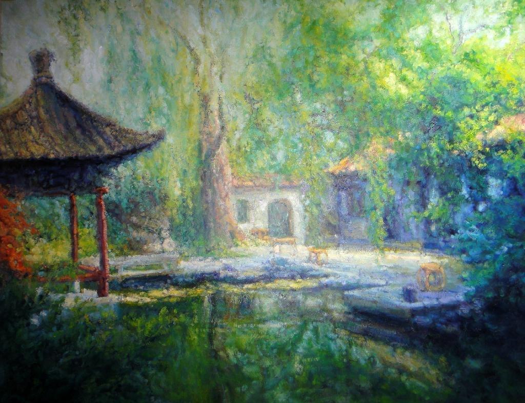 許旭東油畫--水城