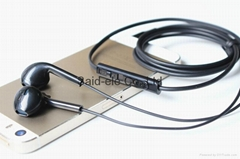 3.5mm low cost earphone for iphone with mic and volume control