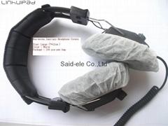White Nonwoven cover headphone cushion earmuff covers