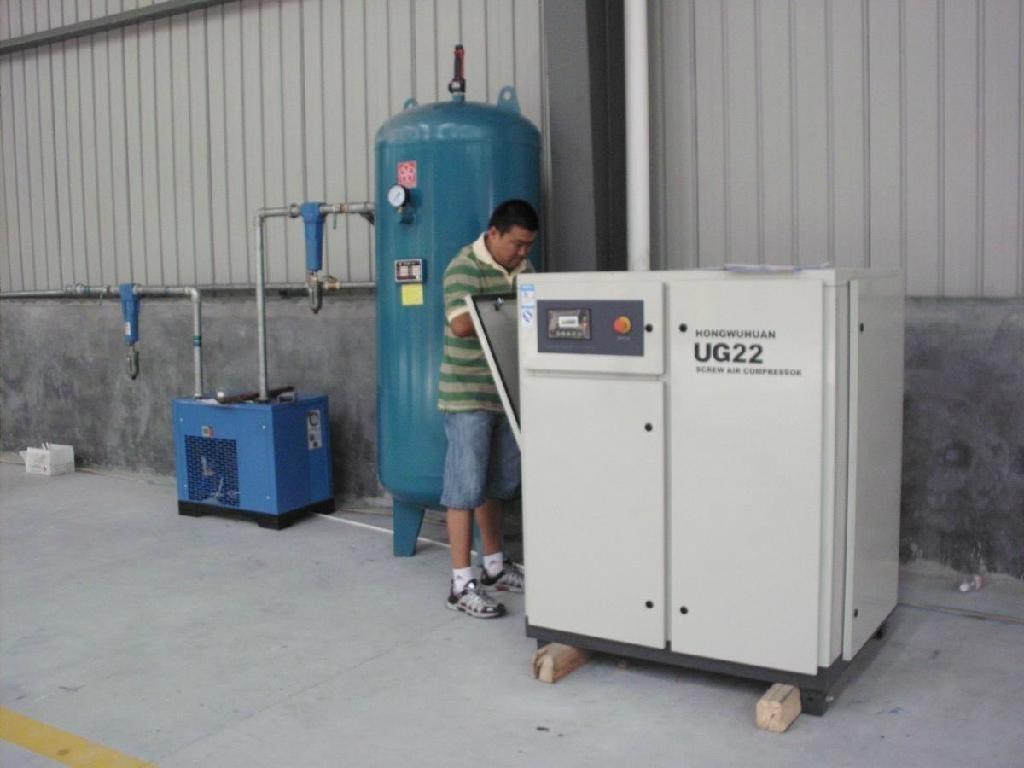 新能源行业双螺杆压缩机客户使用现场