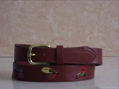 Embroidered Leather Belts for Men