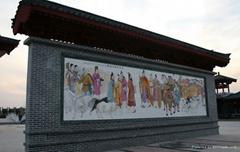 牆壁瓷磚畫