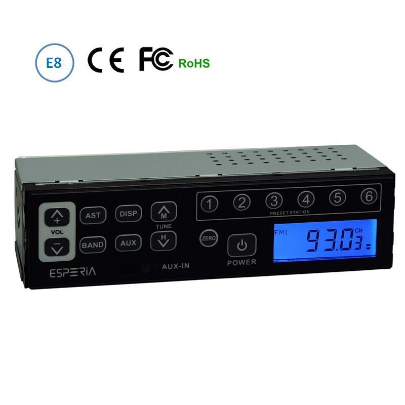 Standard DIN Size AUX-in Car Radio for Heavy Equipment Excavator Radio am fm  1