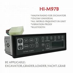 24v Japan quality thunderproof portable excavator radio with bluetooth