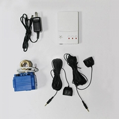 Household security system External water leak alarm with battery backup