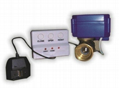 Leak proofing water leak detector with auto shut off valve