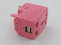 Universal travel adapter Euro plug