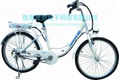 乐骐36V24寸锂电池电动自行车