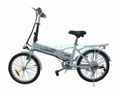 隱形鋰電池折疊電動自行車