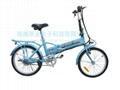 隱形鋰電池折疊電動自行車 2