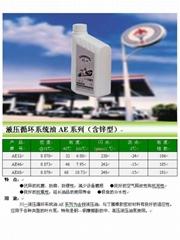 The hydraulic oil circulation system AE