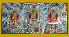 西方三聖藏傳佛教熱貢唐卡(青海同仁吾屯下寺畫僧繪製)