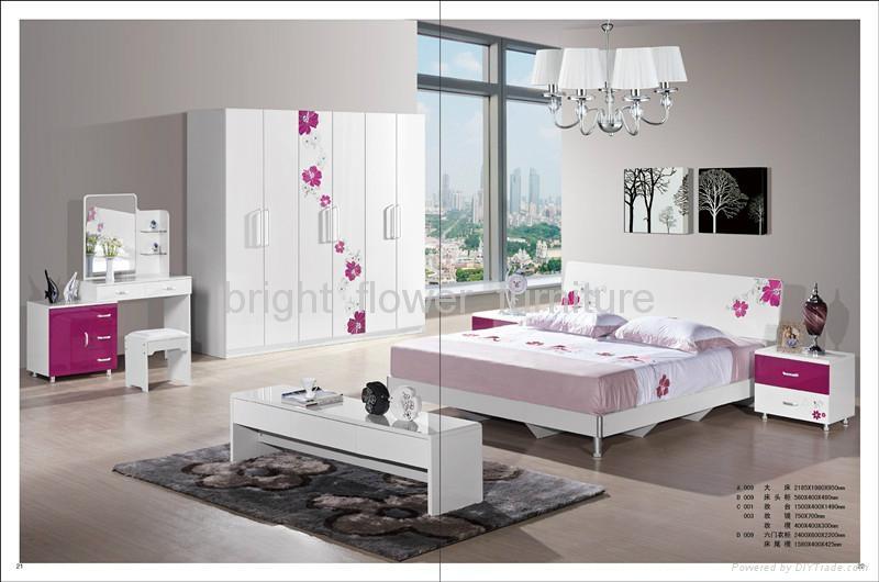2017 Modern Painting Bedroom Set Bed