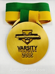 Varsity Triathlon 2015 Finisher Round Shape Medals