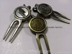 Custom Golf Divot Tool with Ball Maker