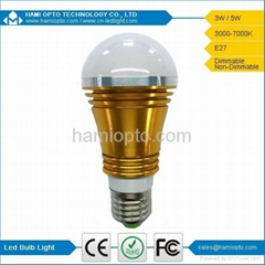 Dimmable High Lumen Hot Sale E27 E14 3W LED Bulb Light, LED Light bulb AC85-265V