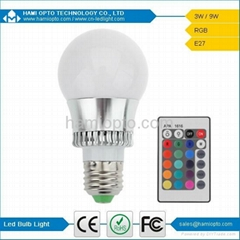B22 / E27 / E14 / GU10 LED Globe Light Bulbs, 3W RGB LED Bulb Lights With Remote