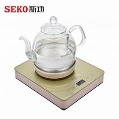 W13底部上水电热水壶全自动玻璃烧水壶家用泡茶壶电茶炉