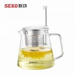 SEKO High Temperature Resistant Kettle Tea Basket automatic rising-lowering Cup