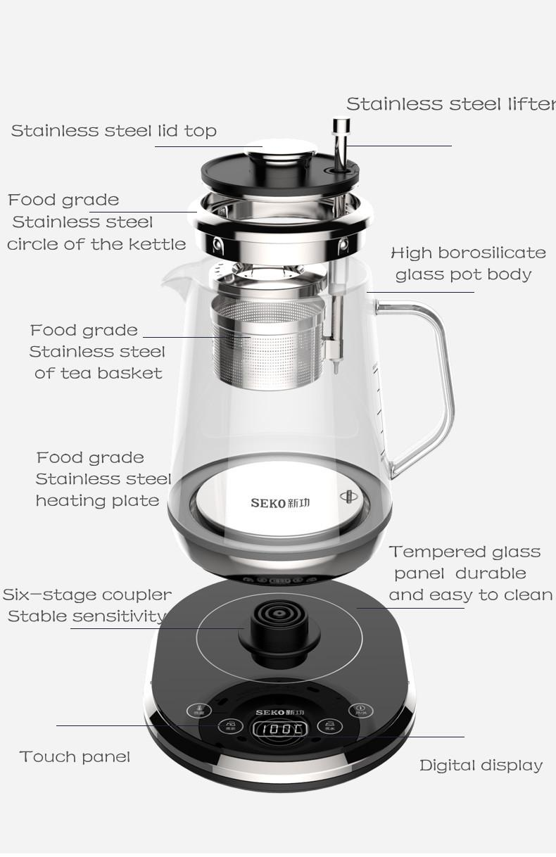 SEKO W15 Electric Tea Kettle with Tea Filter health Kettles  3
