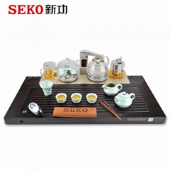 SEKO F181 Multifunction tea tray with electric tea maker