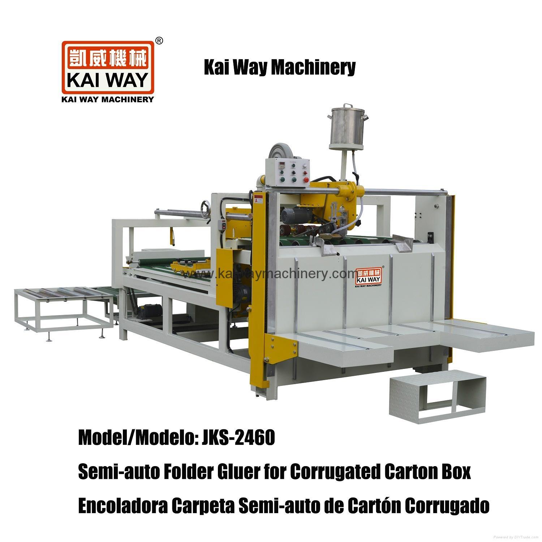 Semi-auto Folder Gluer for Corrugated Carton Box 1