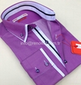 Double collar fashion mens shirts 2