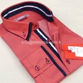 Double collar fashion mens shirts 4