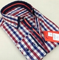 Double collar fashion mens shirts