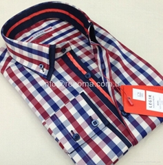 Double collar fashion mens shirts (production & wholesale)