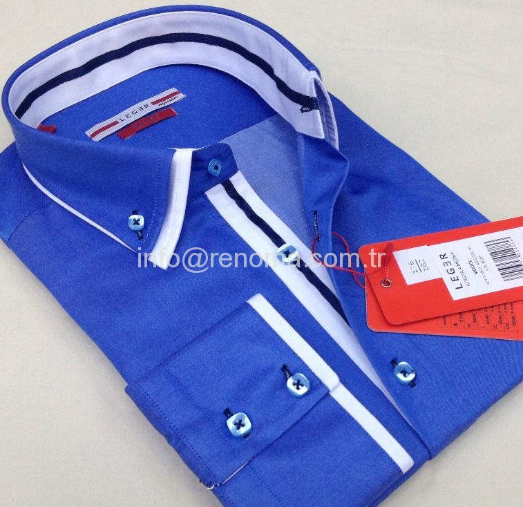 Double collar fashion mens shirts 5