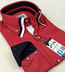 Triple collar designer men's shirts (production & wholesale)