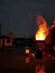戶外防水霧化壁爐篝火盆