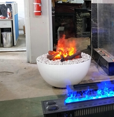 酒店酒吧餐厅休闲区加水雾化3d火焰雾化壁炉电壁炉