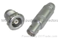MOCO Size 1 Coaxial Connectors with 75Ω Impedance, for RG174 Cable