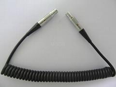 LEMO to LEMO Coiled Cord Cable Assemblies