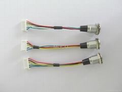 注塑成型線纜線束組件接MOCO航空插頭連接器