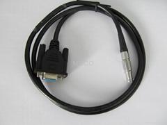 RS232 Serial Data Cable LEMO male plug to DB9 female