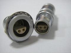 1S5芯圆形推拉式连接器 雌雄同体阴阳连接器
