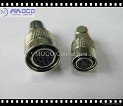 工业用微型连接器 12芯公头母头