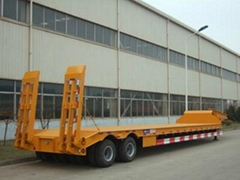 low bed semi trailer