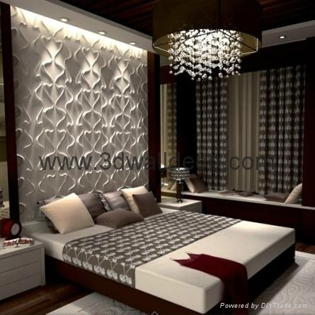 Fashionable living room wall paper 500 500mm 3d board for Wall papers for rooms