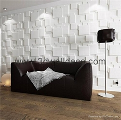 3d wall panel, green material