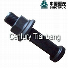 HOWO truck parts REAR WHEEL BOLT WITH NUT AZ9112340123