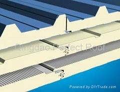 彩鋼聚氨酯(PU、PUR)夾芯復合板