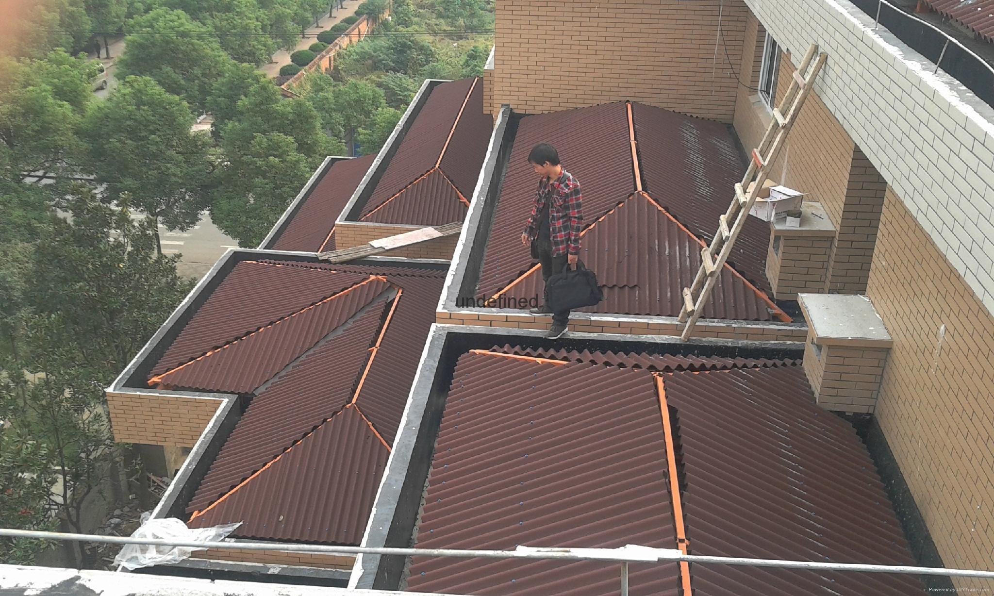 Corrugated roofing tile Bitumen roofing system 3