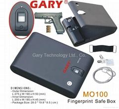黑色生物技术光学式指纹保险盒
