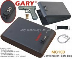 Portable 3 - Digit Combination Lock Mini Car Gun Safe Security Storage Box
