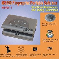 Garyvault Micro Vault MS500 Biometric Portable Pistol Gun Safe Price USD60-70